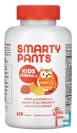 Kids Complete Multivitamin Omega 3 Fish Oil Vitamin D3 and B12, SmartyPants, 120 Gummies