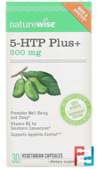5-HTP Plus+, NatureWise, 200 mg, 30 Vegetarian Capsules