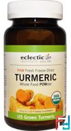 Turmeric, Whole Food POWder, Eclectic Institute, 2.1 oz, 60 g