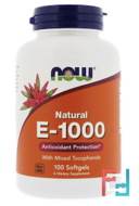 E-1000, Now Foods, 100 Softgels