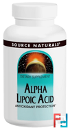 Alpha Lipoic Acid, 200 mg, Source Naturals, 120 Tablets