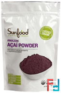 Amazon Acai Powder, Sunfood, 8 oz, 227 g