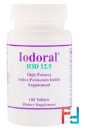 Iodoral, Iodine/Potassium Iodide, Optimox Corporation, 180 Tablets