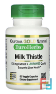 Milk Thistle Extract, Clinical Strength, EuroHerbs, California Gold Nutrition, CGN, 60 Veggie Caps