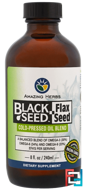 Black Seed, Flax Seed, Cold-Pressed Oil Blend, Amazing Herbs, 8 fl. oz, 240 ml