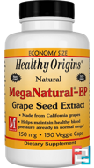 MegaNatural-BP Grape Seed Extract, Healthy Origins, 150 mg, 150 Veggie Caps