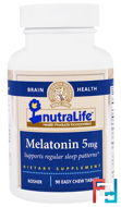 Melatonin, NutraLife, 5 mg, 90 Easy Chew Tablets