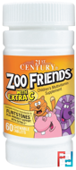 Zoo Friends with Extra C, 21st Century, 60 Chewable Tablets