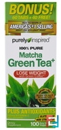 Pure Matcha Green Tea+, Purely Inspired, 100 Easy-to-Swallow Veggie Tablets