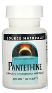 Pantethine, 300 mg, Source Naturals, 30 Tablets