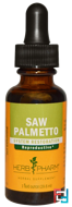 Saw Palmetto, Herb Pharm, 1 fl oz (29.6 ml)
