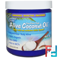 Organic Alive Coconut Oil, Raw Extra Virgin, Coconut Secret, 16 fl oz (473 ml)