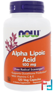 Alpha Lipoic Acid, Now Foods, 100 mg, 120 Veg Capsules