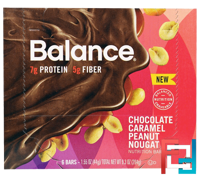 Nutrition Bar, Chocolate Caramel Peanut Nougat, Balance Bar, 6 Bars, 1.55 oz (44 g) Each
