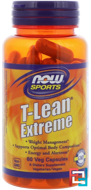 T-Lean Extreme, Now Foods, 60 Veg Capsules