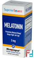 Melatonin, Superior Source, 3 mg, 60 MicroLingual Instant Dissolve Tablets