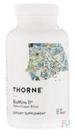 Biomins II, Thorne Research, 120 Vegetarian Capsules