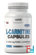 L-Carnitine Caps, VP Laboratory, 500 mg, 90 capsules