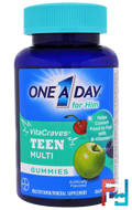 One A Day for Him, VitaCraves, Teen Multi, One-A-Day, 60 Gummies