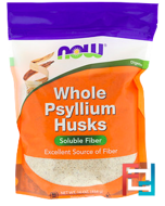 Whole Psyllium Husks, Now Foods, 16 oz, 454 g