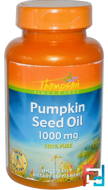 Pumpkin Seed Oil, Thompson, 1000 mg, 60 Softgels