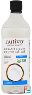 Organic Liquid Coconut Oil, Classic, Nutiva, 32 fl oz (946 ml)