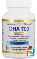 DHA 700 Fish Oil, Pharmaceutical Grade, German Processed, No GMOs, No Gluten, Madre Labs, 1000 mg, 30 Fish Gelatin Softgels