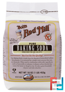Pure Baking Soda, Gluten Free, Bob's Red Mill, 16 oz, 453 g