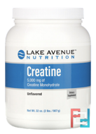 Creatine Powder, Lake Avenue Nutrition, Unflavored, 5,000 mg, 32 oz, 907 g