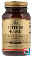 Lutein, Solgar, 40 mg, 30 Softgels