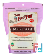 Baking Soda, Gluten Free, Bob's Red Mill, 16 oz, 454 g