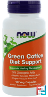 Green Coffee Diet Support, Now Foods, 90 Veg Capsules