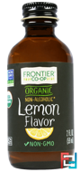 Organic Lemon Flavor, Non-Alcoholic, Frontier Natural Products, 2 fl oz, 59 ml