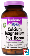 Calcium Magnesium Plus Boron, Bluebonnet Nutrition, 180 Veggie Caps