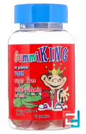 Sugar-Free Multi-Vitamin, For Kids, Gummi King, 60 Gummies