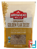 Organic Golden Flax Seeds, Arrowhead Mills, 14 oz, 396 g