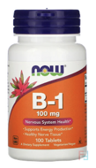 B-1, 100 mg, Now Foods, 100 Tablets