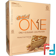 One Bar, Peanut Butter Pie Flavor, Oh Yeah!, 12 Bars, 2.12 oz (60 g) Each