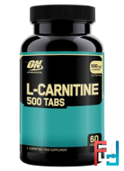 L-Carnitine, Optimum Nutrition, 500 mg, 60 tablets