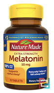 Melatonin, Nature Made, 10 mg, 70 Tablets
