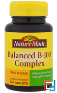 Balanced B-100 Complex, Nature Made, 60 Tablets
