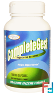 CompleteGest, Mealtime Enzyme Formula, Enzymatic Therapy, 180 Veggie Caps