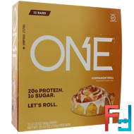 One Bar, Cinnamon Roll, Oh Yeah!, 12 Bars, 2.12 oz (60 g) Each