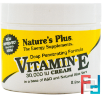 Vitamin E Cream, Nature's Plus, 30,000 IU, 2.2 oz (63 g)