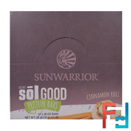 Organic Sol Good Protein Bars, Cinnamon Roll, Sunwarrior, 12 Bars, 2.36 oz (67 g) Each