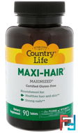 Maxi-Hair, Country Life, 90 Tablets