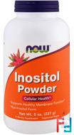 Inositol Powder, Now Foods,  8 oz, 227 g