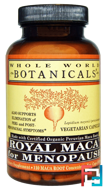 Royal Maca for Menopause, Whole World Botanicals, 500 mg, 120 Vegetarian Capsules