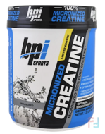 Micronized Creatine, Micronized 100% Pure Creatine, Unflavored, BPI Sports, 1.32 lbs, 600 g