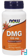 DMG, Now Foods, 125 mg, 100 Veg Capsules